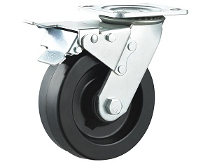 High Temperature Nylon Wheel Swivel Plate with Total Brake